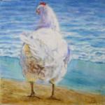 Høne af kunstmaler Birgitte Nielsen