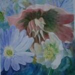påskeklokker, akvarel af kunstmaler Birgitte NIelsen