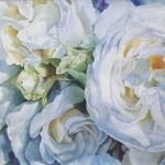roser, akvarel af kunstmaler Birgitte NIelsen